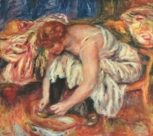 Pierre Auguste Renoir - Woman Tying her shoes