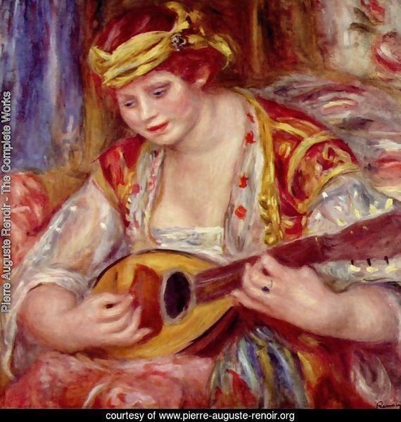 Woman with a mandolin