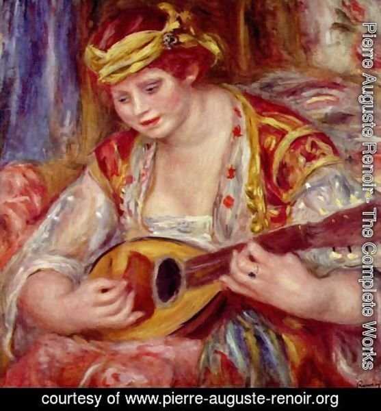 Pierre Auguste Renoir - Woman with a mandolin