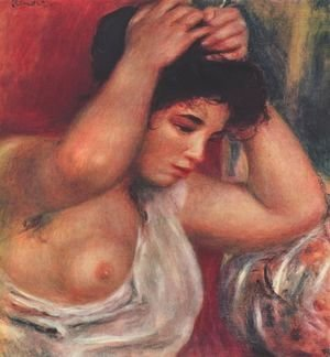Pierre Auguste Renoir - Young woman hairdressing