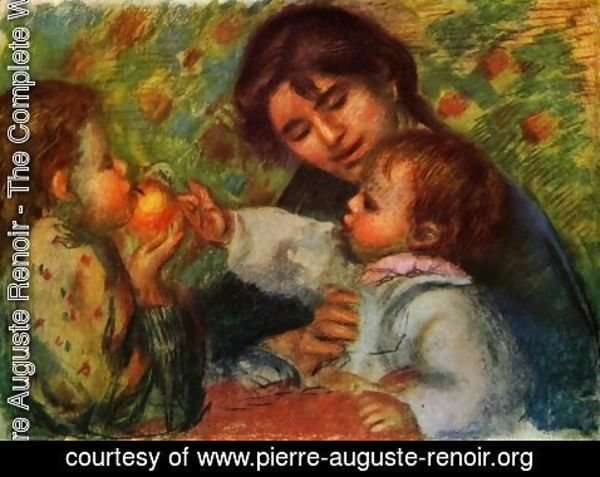 Pierre Auguste Renoir - Portrait of Jean Renoir and Gabrielle with their child