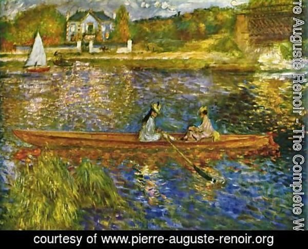 Pierre Auguste Renoir - River with boats at Asnères
