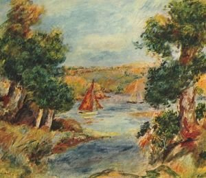 Pierre Auguste Renoir - Sailing boats at Cagnes