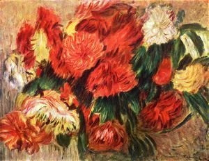 Pierre Auguste Renoir - Still life with chrysanthemums