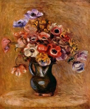 Pierre Auguste Renoir - Still life with flowers