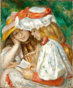 Pierre Auguste Renoir - Two Girls Reading