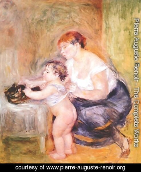 Pierre Auguste Renoir - Mother and Child 2