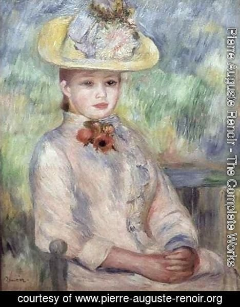 Pierre Auguste Renoir - Girl in the Yellow Hat
