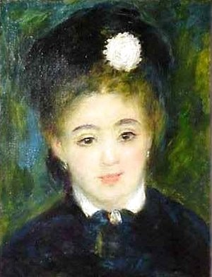 Pierre Auguste Renoir - Portrait of a Young Woman in Black