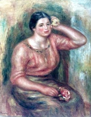 Pierre Auguste Renoir - Woman with a Rose