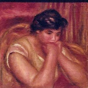 Pierre Auguste Renoir - Woman Leaning on Her Elbows