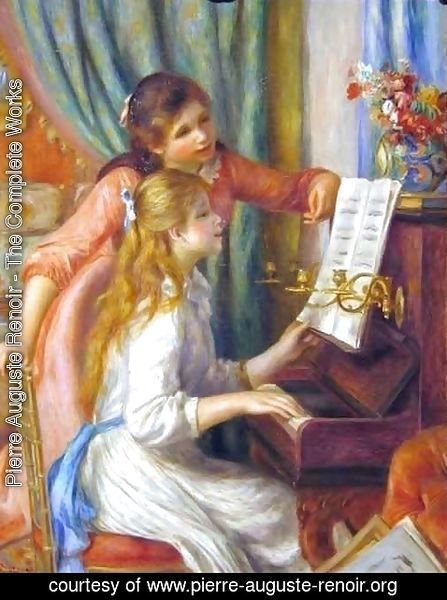 Pierre Auguste Renoir - Two Young Girls at the Piano