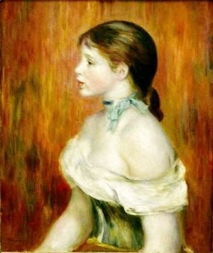 Pierre Auguste Renoir - Girl with a Blue Ribbon
