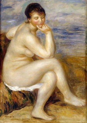 Pierre Auguste Renoir - Bather Seated on a Rock 1882