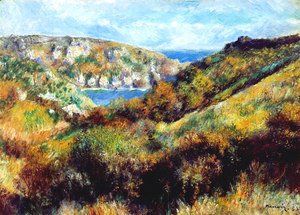 Pierre Auguste Renoir - Hills around the Bay of Moulin Huet Guernsey 1883