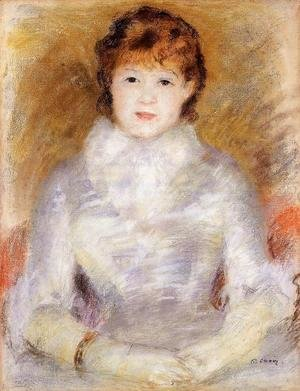 Pierre Auguste Renoir - Portrait of a Young Woman (aka Ellen Andree) 1877