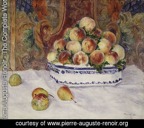 Pierre Auguste Renoir - Still Life with Peaches 1881