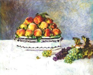 Pierre Auguste Renoir - Still Life with Peaches and Grapes 1881