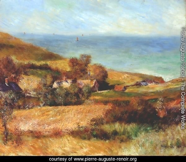 View of the Seacoast near Wargemont in Normandy 1880