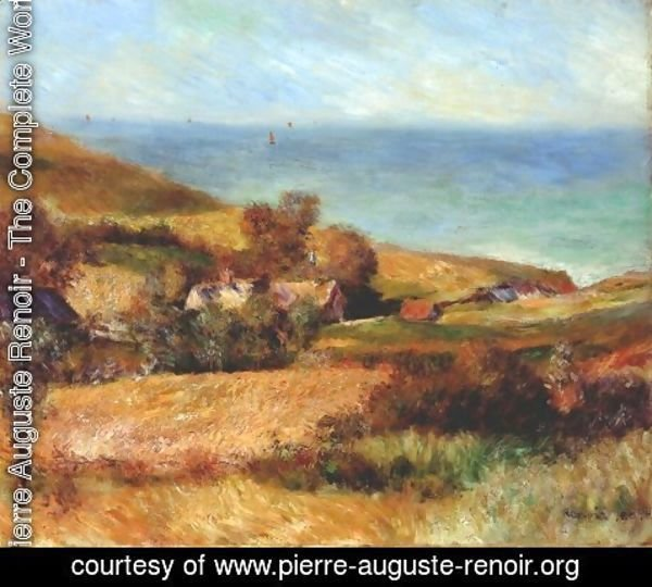 Pierre Auguste Renoir - View of the Seacoast near Wargemont in Normandy 1880