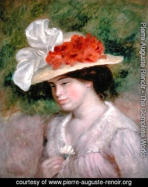 Pierre Auguste Renoir - Woman with a Flowery Hat 1899