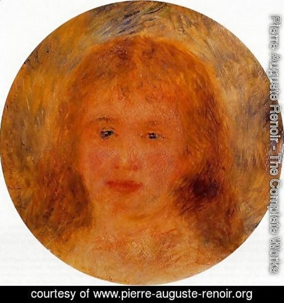Pierre Auguste Renoir - Womans Head (aka Jeanne Samary) 1877