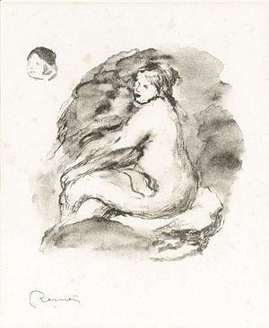 Pierre Auguste Renoir - Study Of A Seated Nude