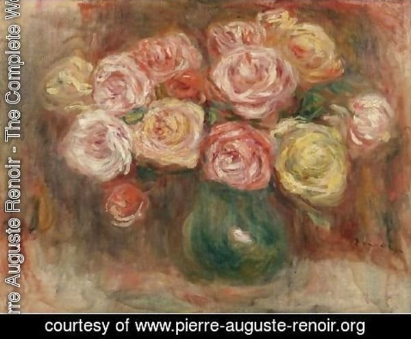 pierre auguste renoir the complete works vase de fleurs pierre auguste. Black Bedroom Furniture Sets. Home Design Ideas
