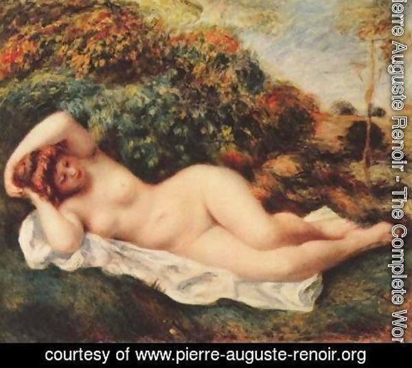 Pierre Auguste Renoir - Bathing, sleeping (Badende, schlafend - Die Backerin)