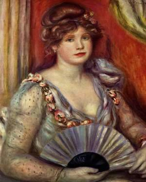 Pierre Auguste Renoir - Lady with fan