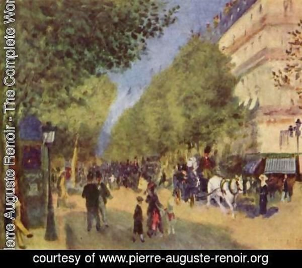 Pierre Auguste Renoir - The Great Boulevards 2