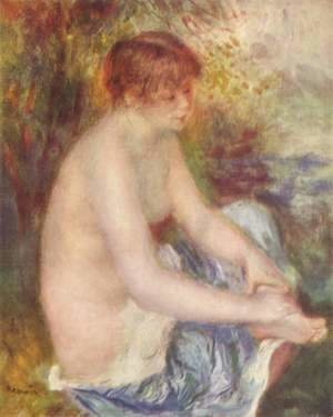 Pierre Auguste Renoir - Small act in blue