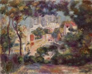 Pierre Auguste Renoir - Landscape with view of Sacre-Coeur