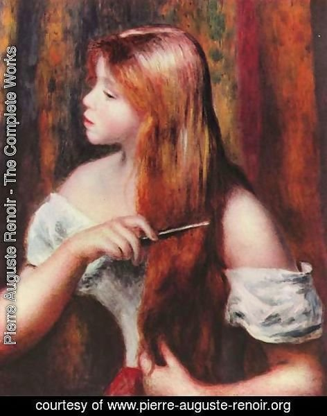 Pierre Auguste Renoir - Young Girl Combing Her Hair 2
