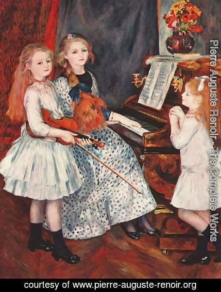 Pierre Auguste Renoir - Portrait of the daughter of Catulle Mendes at the Piano