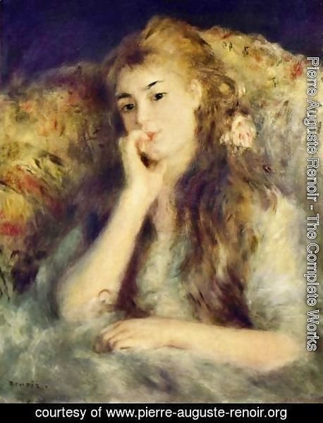 Pierre Auguste Renoir - Portrait of a girl (in thought)