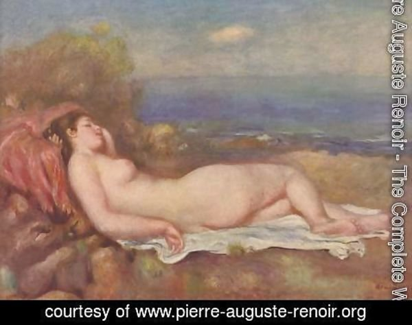 Pierre Auguste Renoir - Sleeping by the sea