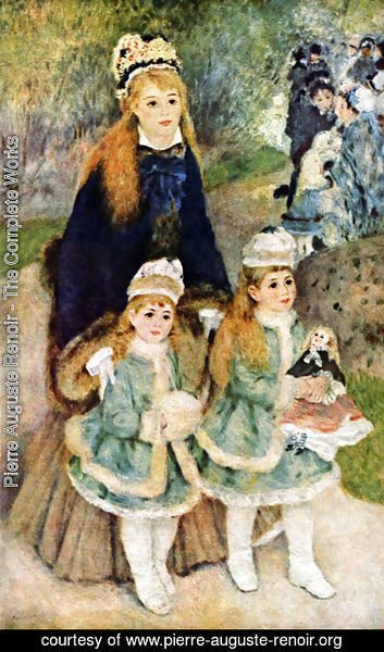 Pierre Auguste Renoir - Mother Strolling with her Children