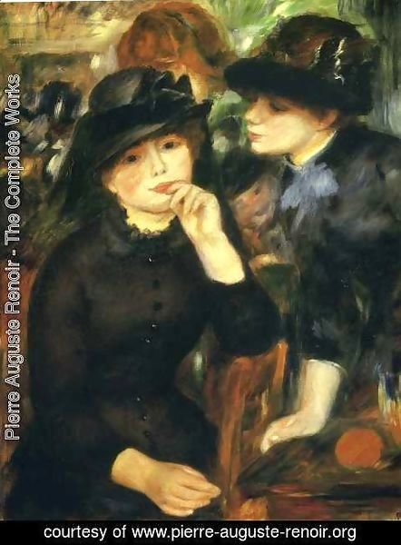 Pierre Auguste Renoir - Two girls in black