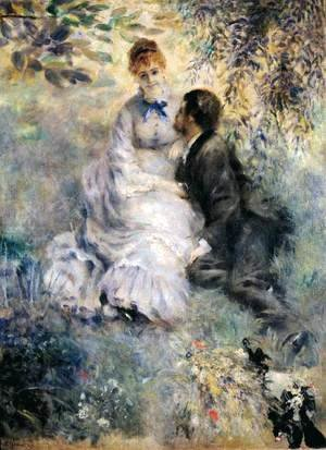Pierre Auguste Renoir - Couple Sitting in a Garden