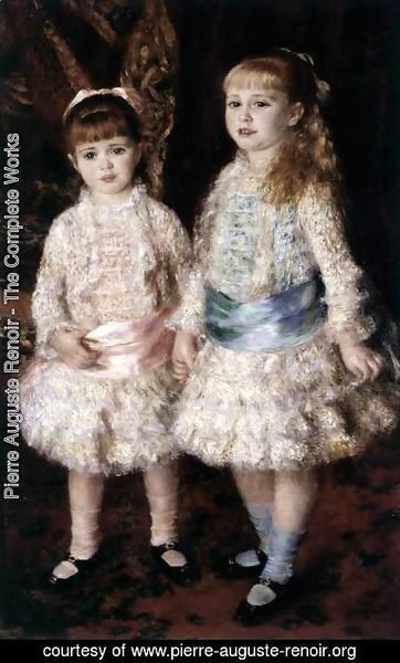 Pierre Auguste Renoir - Pink and Blue (Alice and Elisabeth Cahen d'Anvers)