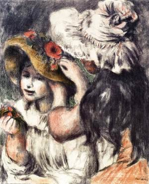 Pierre Auguste Renoir - Pinning the Hat