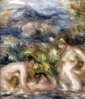 Pierre Auguste Renoir - The Bathers (detail)