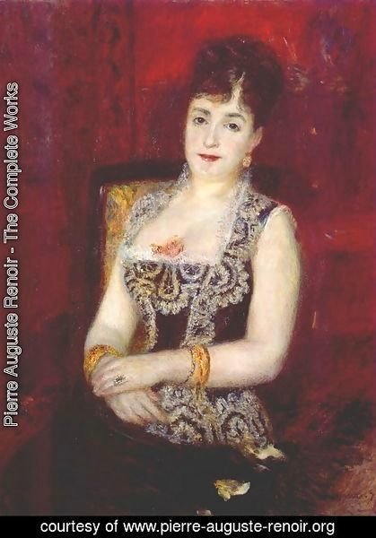 Pierre Auguste Renoir - Portrait of the countess pourtales
