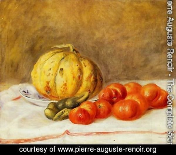 Pierre Auguste Renoir - Melon and Tomatos