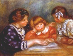 Pierre Auguste Renoir - The lesson 2