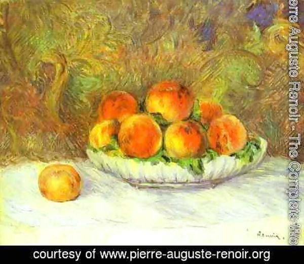 Pierre Auguste Renoir - Still Life with Peaches 2