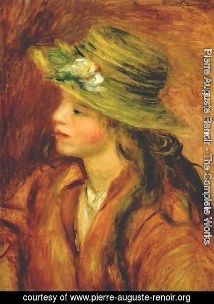 Pierre Auguste Renoir - Girl with a straw hat