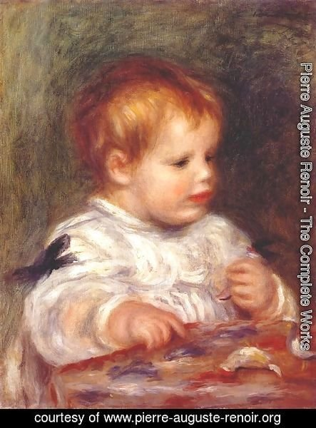 Pierre Auguste Renoir - Jacques fray as a baby