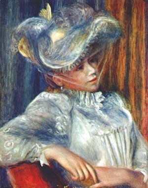 Pierre Auguste Renoir - Woman in a hat